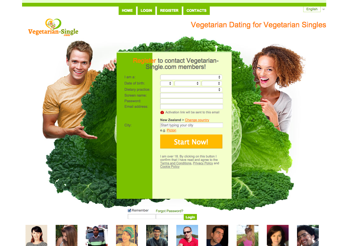 Free vegan dating site