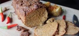 Vegan seitan roast: pea flour based recipe